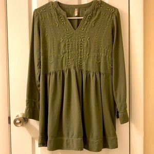 5/$25 Japna army green top size Small